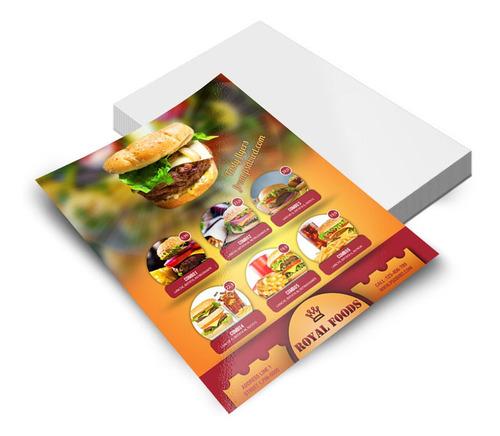 1000 Panfleto A4 Personalizado 21x29cm Papel Offset