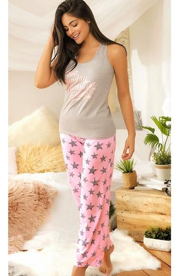 Pijama Super Star Mujer Juvenil Pantalon Estrellas Multiuso