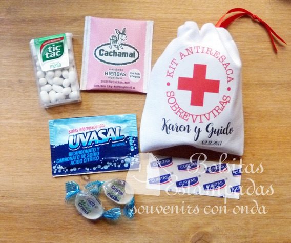 10 Bolsitas De Tela + Kit Antiresaca, Kit Rescate O Hangover