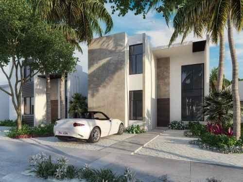 Casa Nueva En La Playa De Chelem, En Nuevo Desarrollo De Privadas Residenciales Con Amenidades.