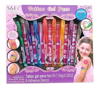 Tatuajes En Gel Para Nenas Set De Boligrafos Fashion Niñas