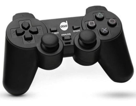Controle Para Ps2 Com Fio Dual Shock Marca Dazz Cor Preto