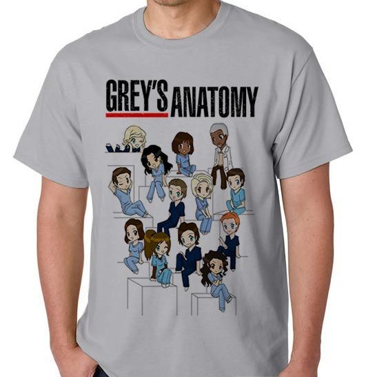 Greys Anatomy Camisa Camiseta Blusa Masculino Feminino