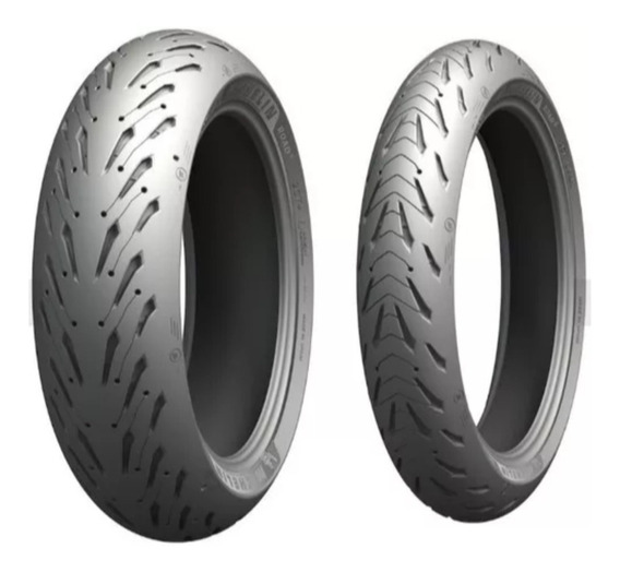 Par Pneu Michelin Pilot Road 5 120/70-17 E 160/60-17