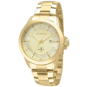 Relógio Technos Masculino Classic Golf Dourado 2115klt/4x