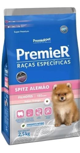 Premier Cães Raças Spitz Alemão Filhote Sabor Frango 2,5kg