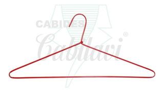 Cabide De Arame Revestido - Modelo Padrão 42cm- 100 Peças
