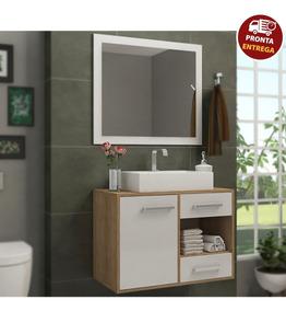 Conjunto Banheiro Completo Personal - Balcão + Painel + Cuba