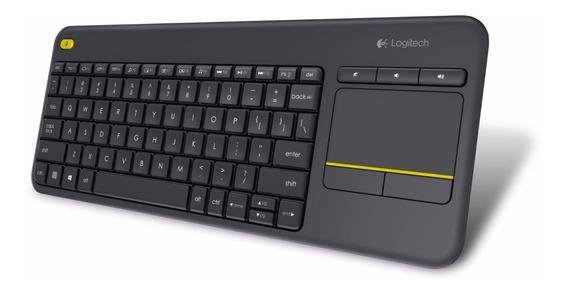 Teclado Sem Fio C/ Mouse Touch Logitech K400 Plus Pc Abnt2
