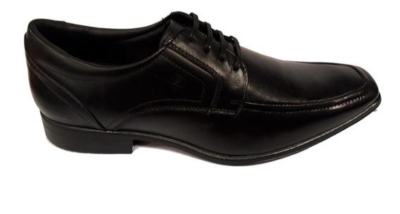 Zapato Lombardino / En Punta / Cuero / Negro Y Marrón