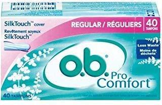 Ob Pro Comfort Tampons - Caja Regular De 40 Unidades
