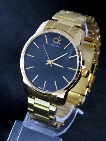 Relógio Ck Zeus Aço Prata Masculino Grande Luxo Top Barato Na Caixa