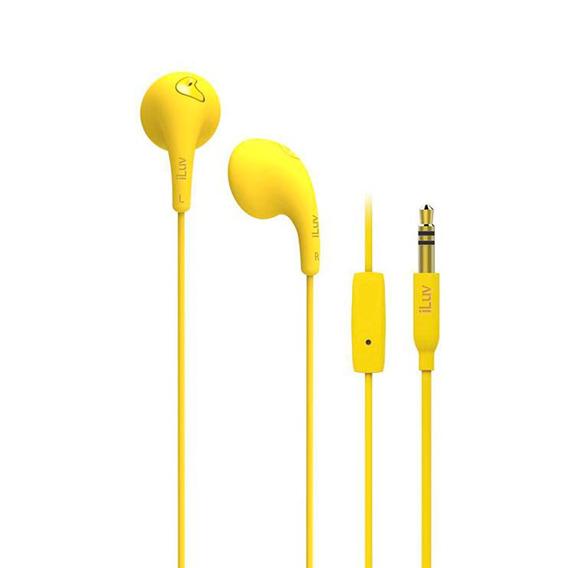 Earphone Fone De Ouvido Com Microfone Earbuds Iluv - Amarelo
