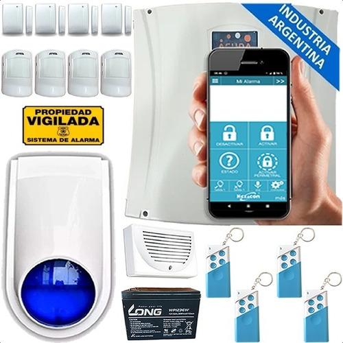 Kit Alarma Gsm Casa 4 Sensor Pir Apertura Control Sirena Pro