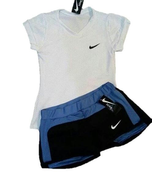 Conjunto Deportivo Nike Short+camiseta + Obsequio, Gym, Yoga