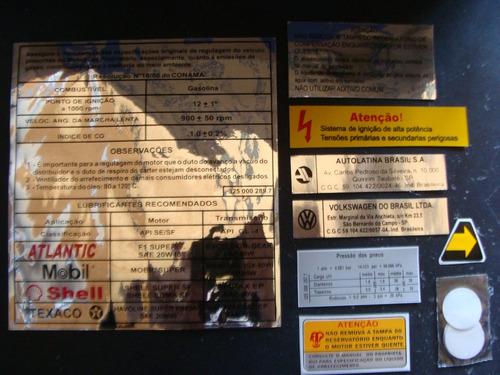 Kit Adesivos Motor Gol Voyage Parati Saveiro Cl Gl Gls Gts