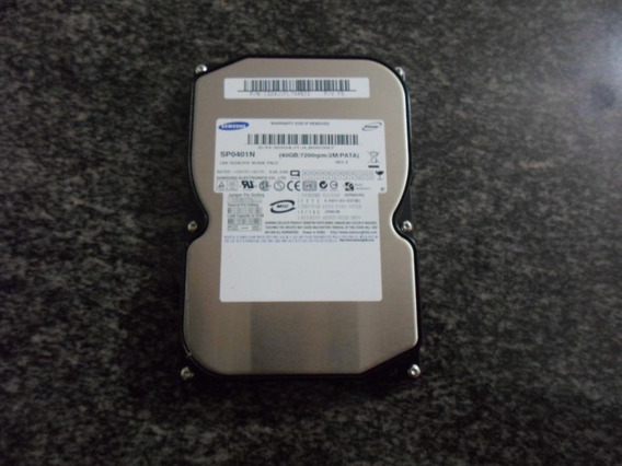 Hd 40 Gb Ide Samsung Sp0401n 7200rpm Palo - Novo Sem Uso.