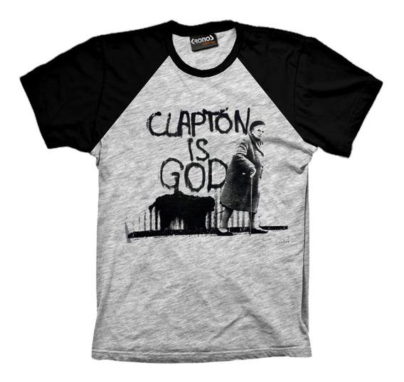 Remera Eric Clapton Blues Clapton Is God Retro Rangla Fender