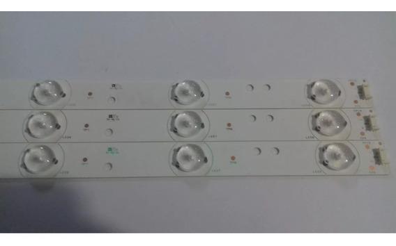 Kit 03 Barra De Led Tv Toshiba Dl3270