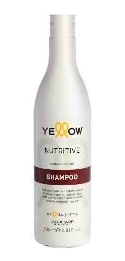 Shampoo Yellow Nutritivo Argan Coco Pelo Seco Dañado 500 Ml