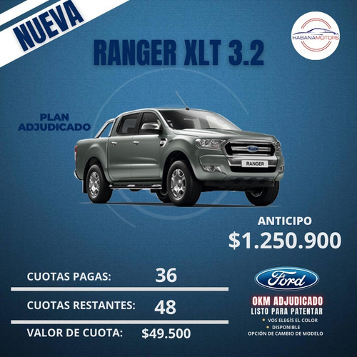 Ford Ranger Xlt 0km Cd 4x2 Manual Adjudicado!!