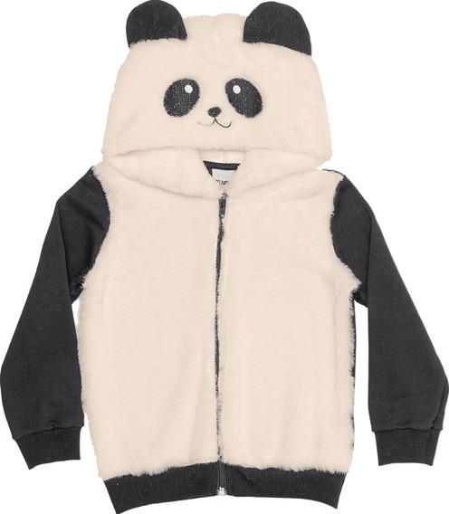 Roupa Infantil Jaqueta Moletom Pelucia Panda Capuz Promoção