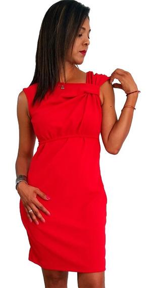 Vestido De Lactancia Y Embarazo Ropa Maternidad -leira Rojo