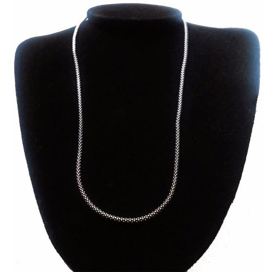 Correntinhas De Prata 925 Bali Pipoca 50 Cm Colar Cordão