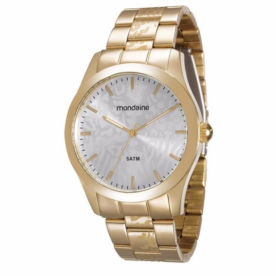 Relógio Mondaine Feminino 78684lpmvda1 Pulseira Dourada *
