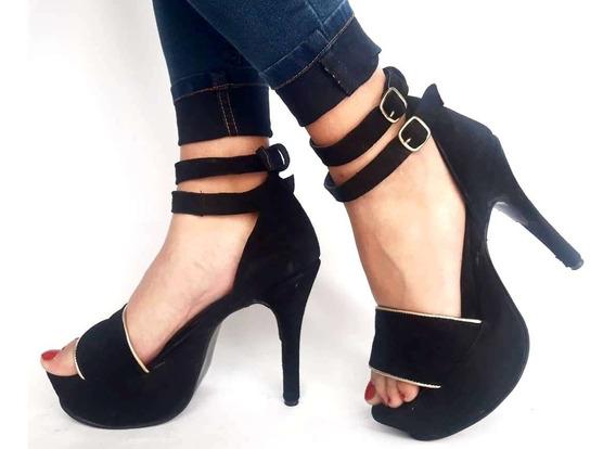 Sam123 Zapatos Stilettos Cuero Talles Grandes Sant