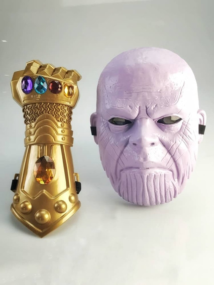 Combo 2x1 Mascara Y Guante De Thanos Vengadores End Game
