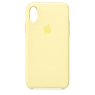 Carcasa Funda De Silicona Para iPhone XS Max Amarillo Suave