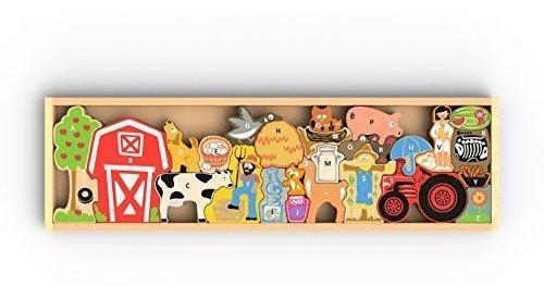 Beginagain Farm A To Z Puzzle And Playset Haz Que El Aprendi