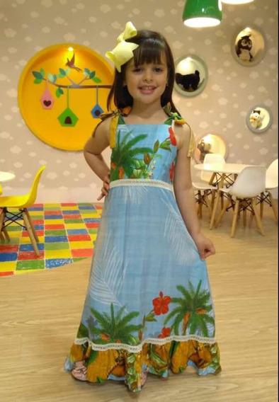 Vestido Longo Infantil (tam 6)