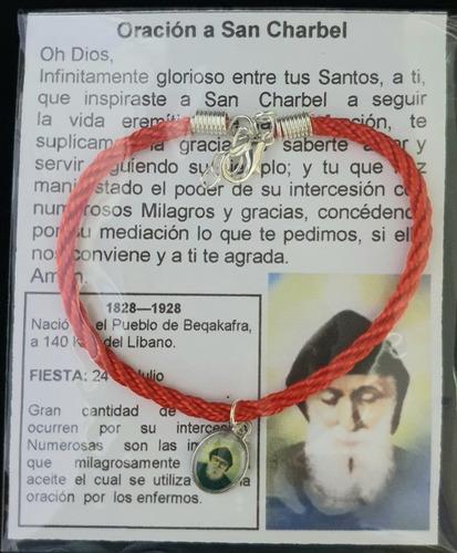 Pulsera De San Charbel, Cordón, Hecha A Mano.