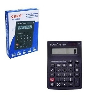 Calculadora Eletrônica A Bateria Para Bolso C/ Capa Protetor