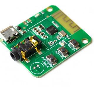 Modulo Receptor De Audio Bluetooth 4.2 Estereo Con Conector Micro Usb Y Miniplug