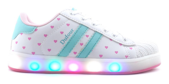 Zapatillas Dufour Luces Led Recargables Unisex Liquidacion