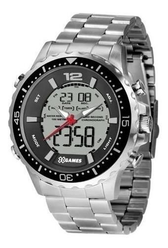 Relógio Masc. Silver Prata X-games Orient Xmssa008 Original