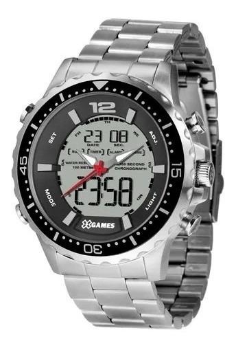 Relógio Masculino Silver X-games Orient Original Xmssa008