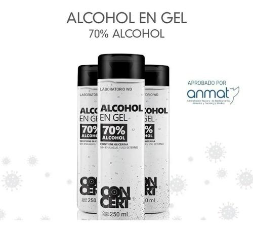 Imagen 1 de 7 de Alcohol En Gel Antibacterial Neutro Higienizante Manos 250ml