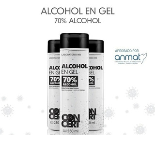 Alcohol En Gel Antibacterial Neutro Higienizante Manos 250ml