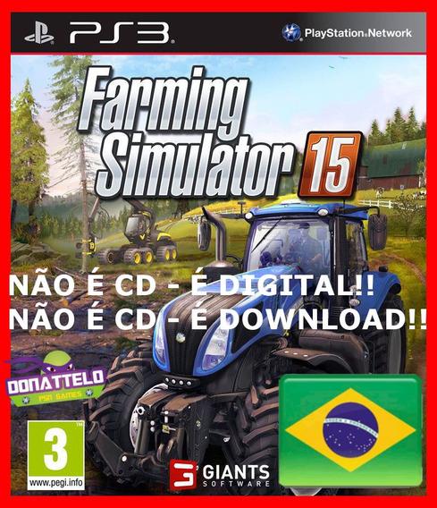 Farming Simulator 15 Ps3 Psn Portugues Simulador Fazenda