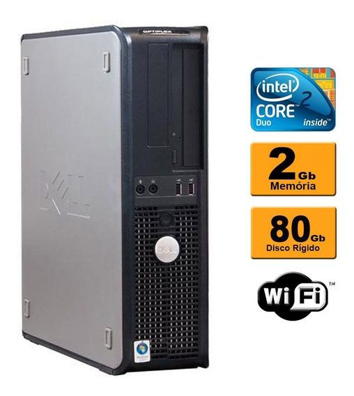 Cpu Desktop Dell Optiplex Core 2 Duo 2gb 80gb Wifi Promoção