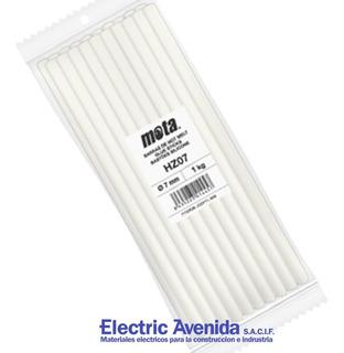 Barra Silicona Hot Melt 1kg 11mm Mota Pega Caliente Goma