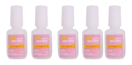 5 Colas 10g Unha Manicure Tip Gel Acrigel Fibra Porcelana