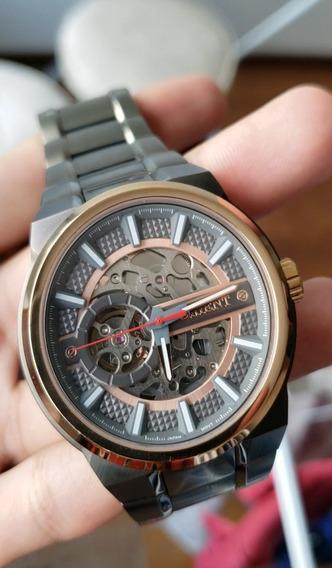 Relógio Orient Masculino Esqueleto Automático Nh7yr001 G1gx
