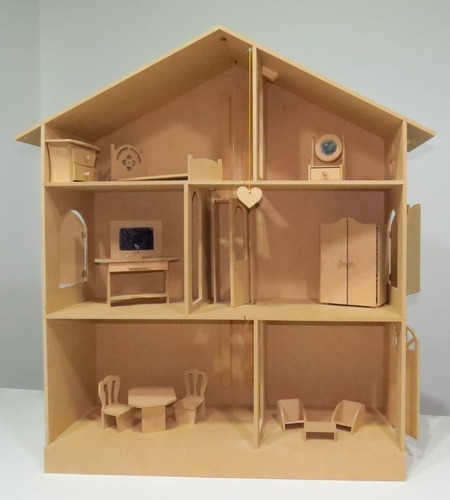 Casa De Muñecas Con Ascensor Niño + Muebles Infantil Niña