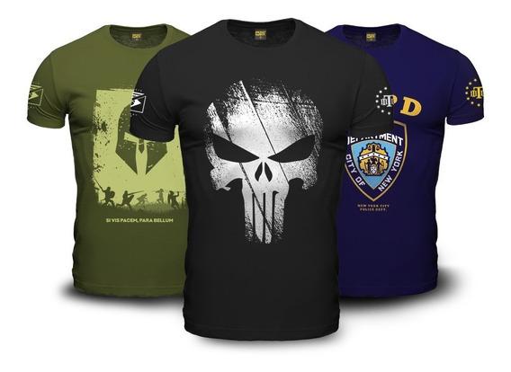 Kit 3 Camisetas Militares Guerreiro Teamsix