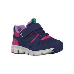 Tênis Bibi Original Leve E Confortável Com Fechamento Em Velcro Marinho/rosa